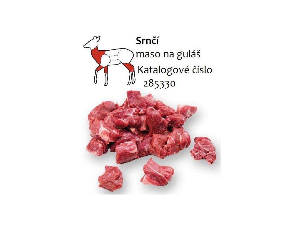 Srnčí maso na guláš balení 5 kg