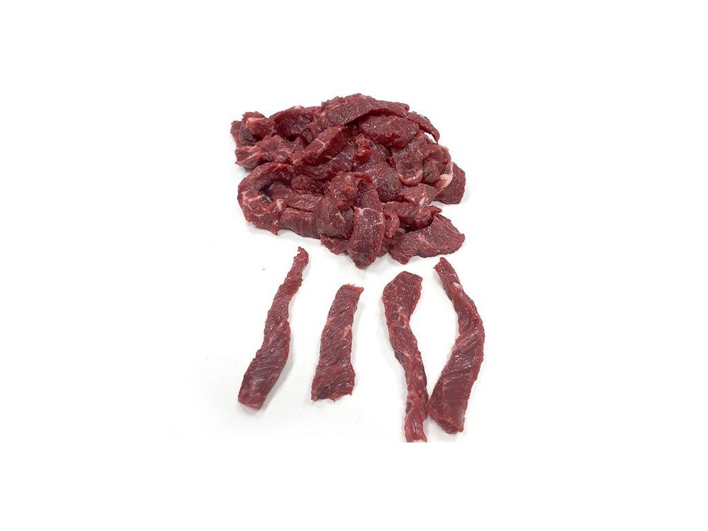 Hovězí nudličky (velká plec kráva) balení cca 3 Kg