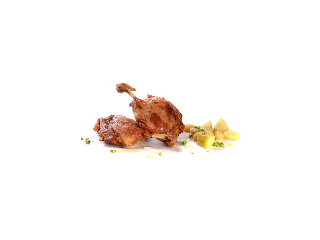Kachní stehna malá konfitovaná 6 ks sous-vide Banquet 1,2 – 1,6 kg cena za kilogram.