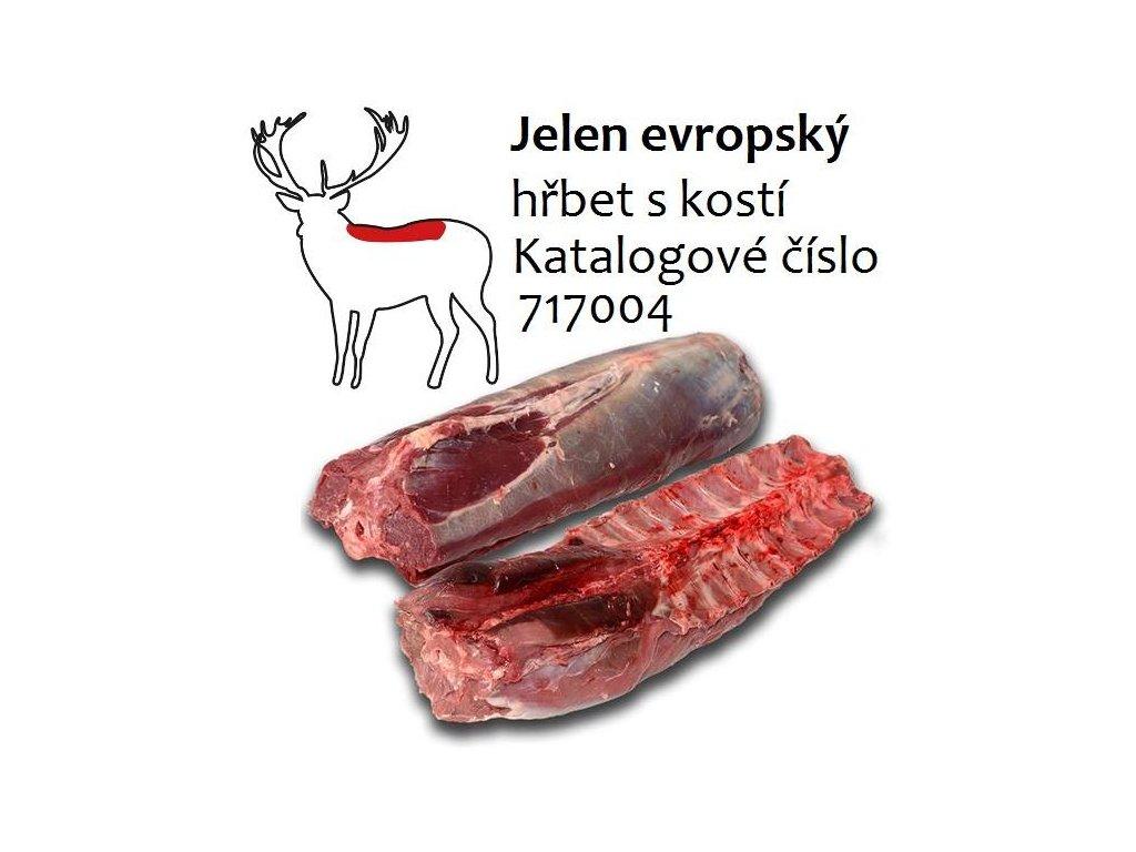 Jelen evropský hřbet s kostí cena za balení 2,3 kg