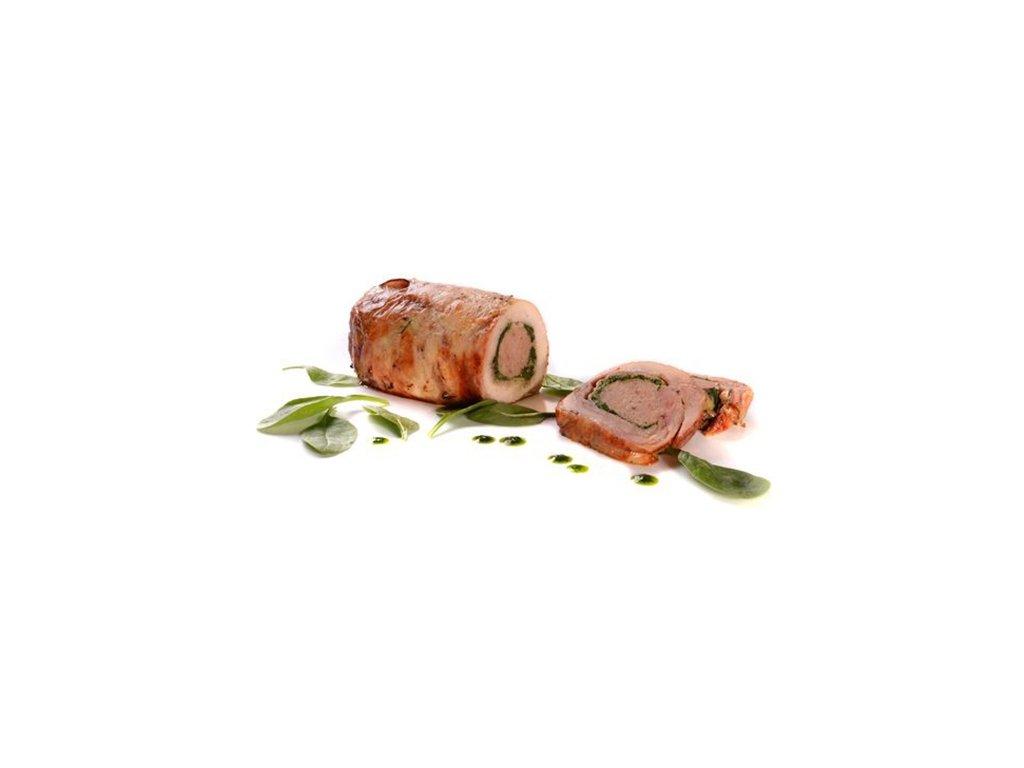 Kuřecí roláda se slaninou a špenátem 2x1,2 kg celkem 2,4 Kg