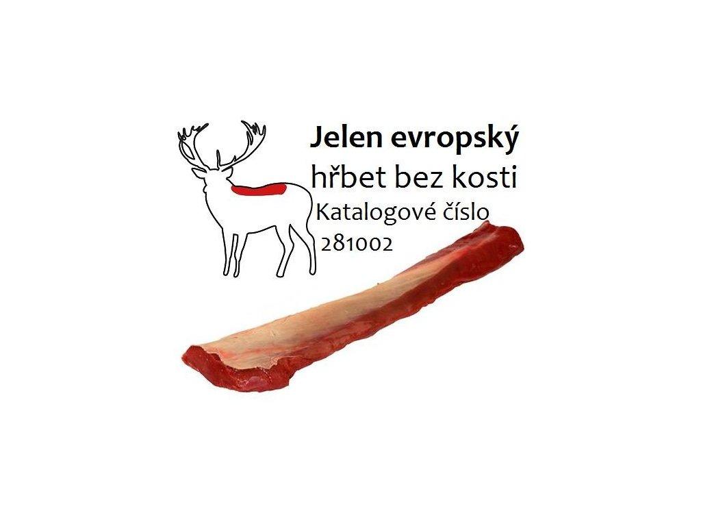 Jelen evropský hřbet bez kosti cena za balení 2,5 kg
