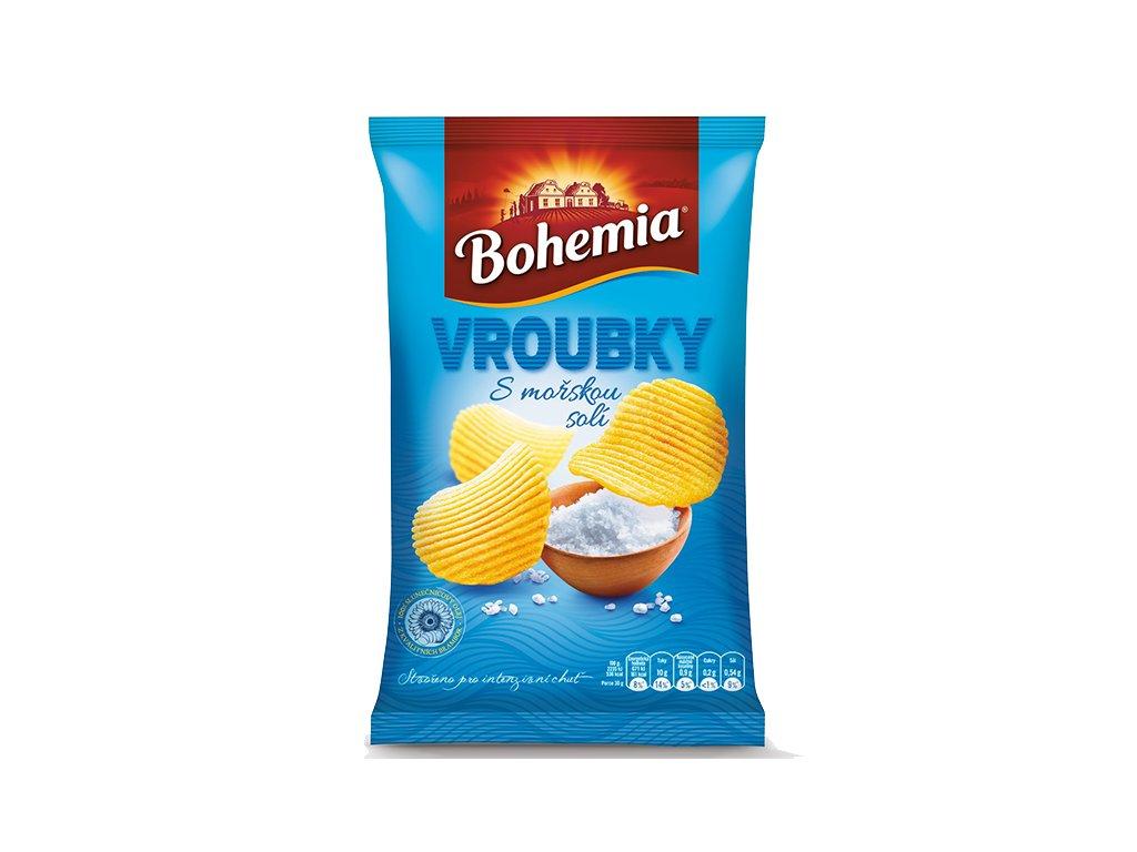 BOHEMIA Chips Vroubky 65g Mořská Sůl