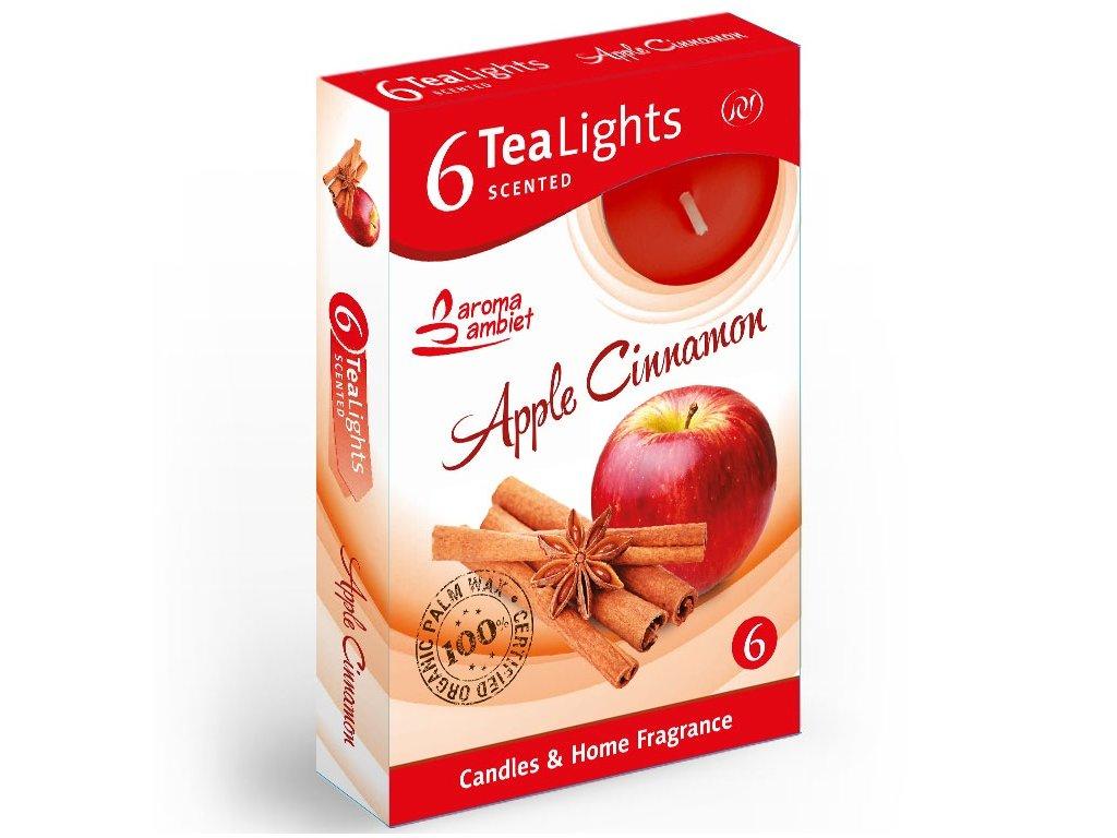 SANTO Čajové Svíčky 6ks Apple Cinnamon
