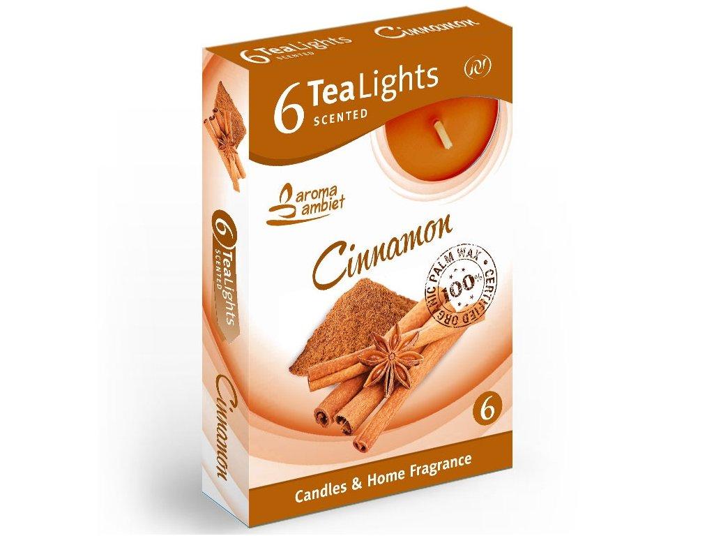SANTO Čajové Svíčky 6ks Cinnamon