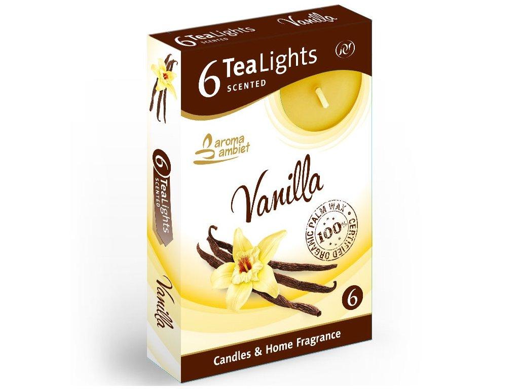 SANTO Čajové Svíčky 6ks Vanilla