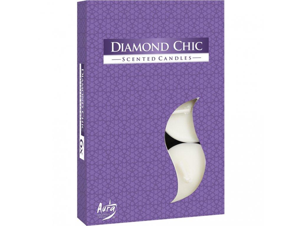 BISPOL P15 Čajové vonné svíčky 6ks Diamond Chic