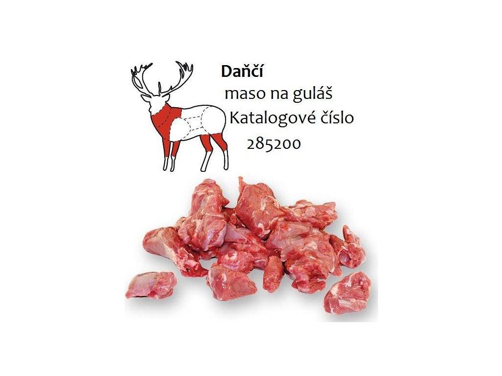 Daňčí maso na guláš 1 kg cena za balení