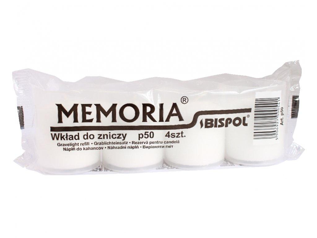 BISPOL Svíčka hřbitovní P50  bílé 4 kusy balení