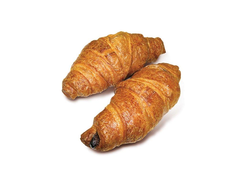 Croissant máslový s čokoládovou náplní balení 48 x 90 g.Cena za kus 13 Kč
