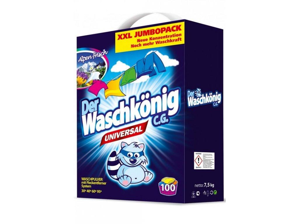 Waschkönig Universal prací prášek 7,5 kg 100 praní