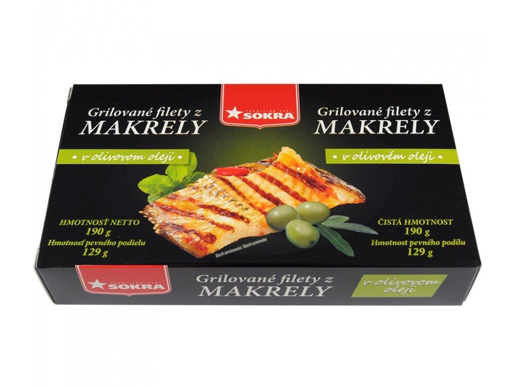 Grilované filety z makrely v olivovém oleji 190g