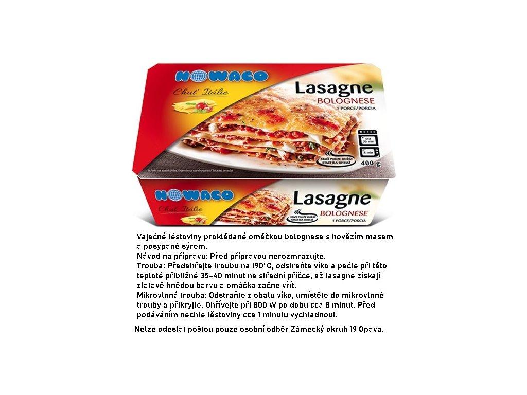 Lasagne bolognese Nowaco  400 g