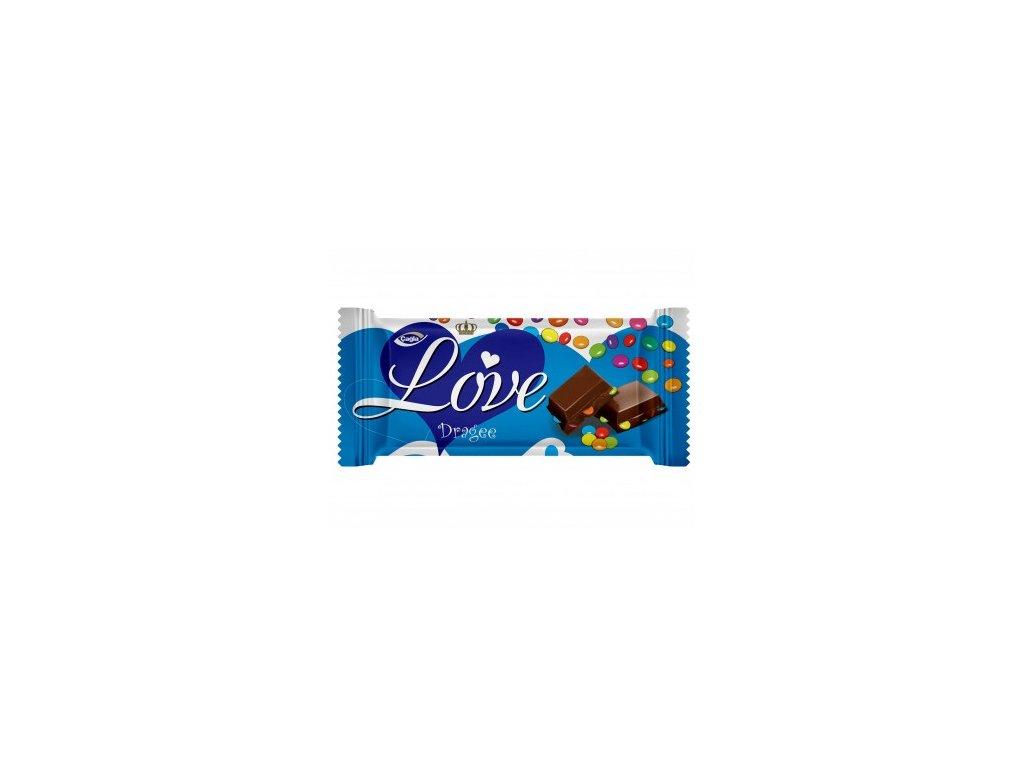 Love 80g mléčná čokoláda s dražé