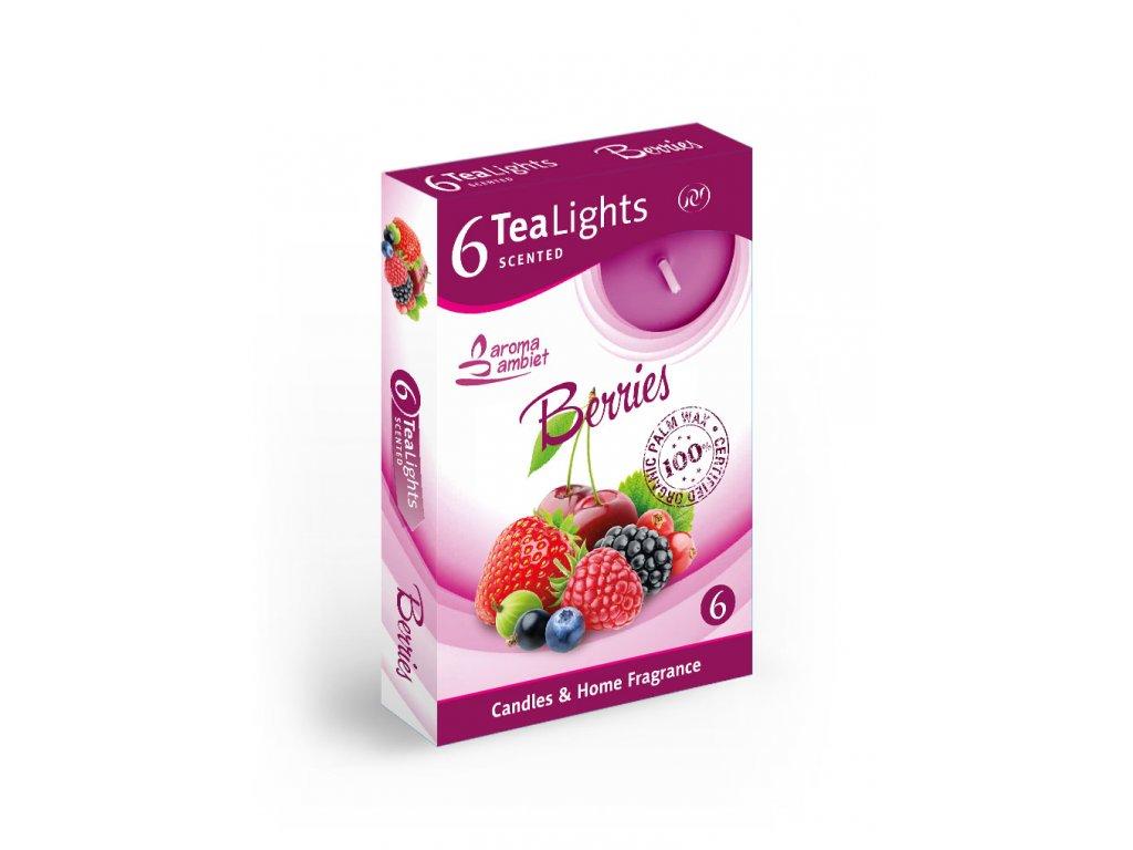 SANTO Čajový Svíčky 6ks Apple Berries