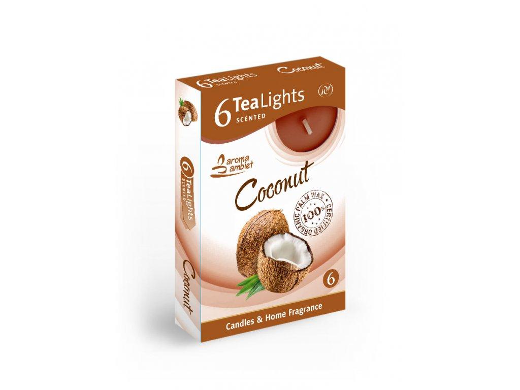 SANTO Čajový Svíčky 6ks Coconut