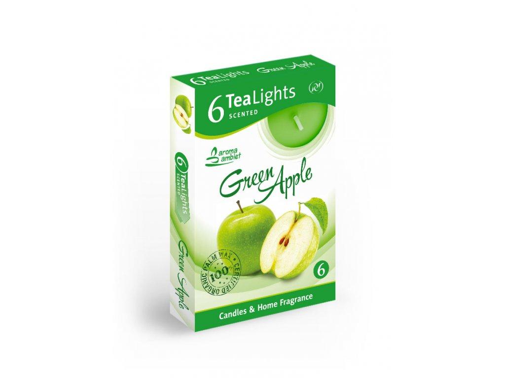 SANTO Čajový Svíčky 6ks Green Apple