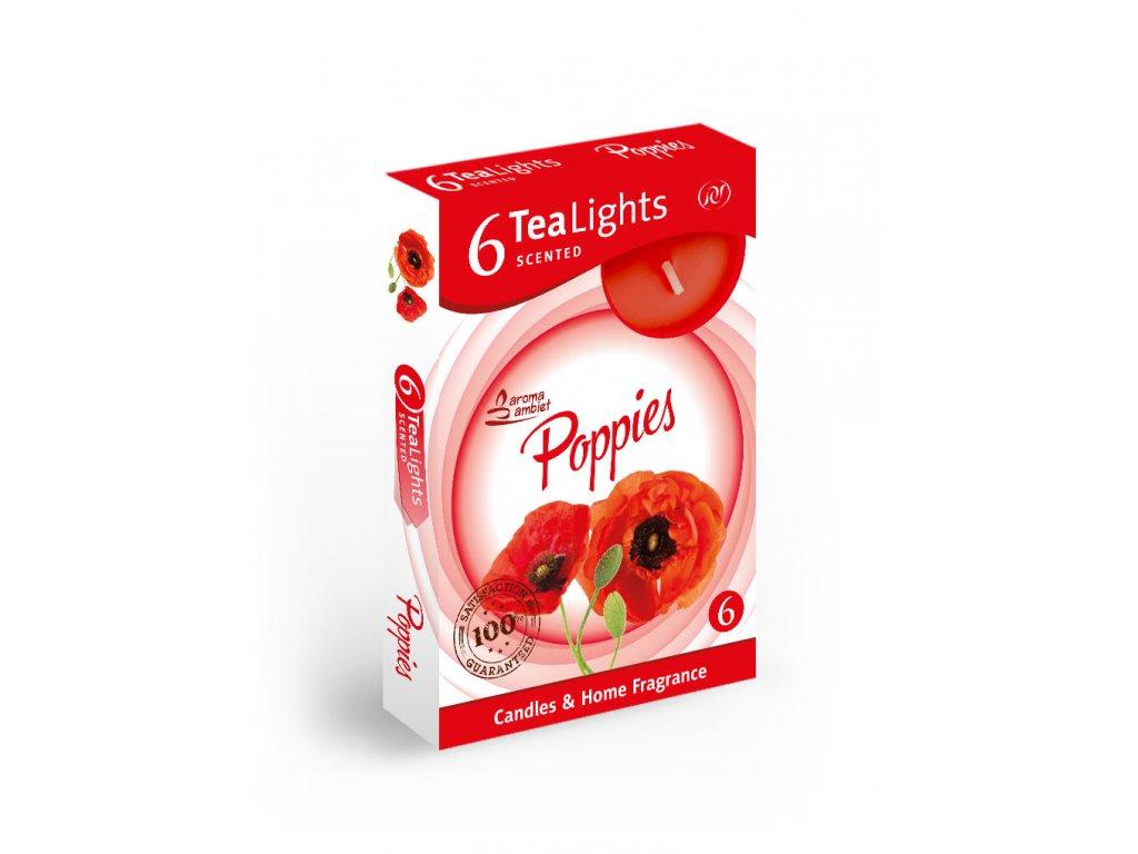 SANTO Čajový Svíčky 6ks Poppies