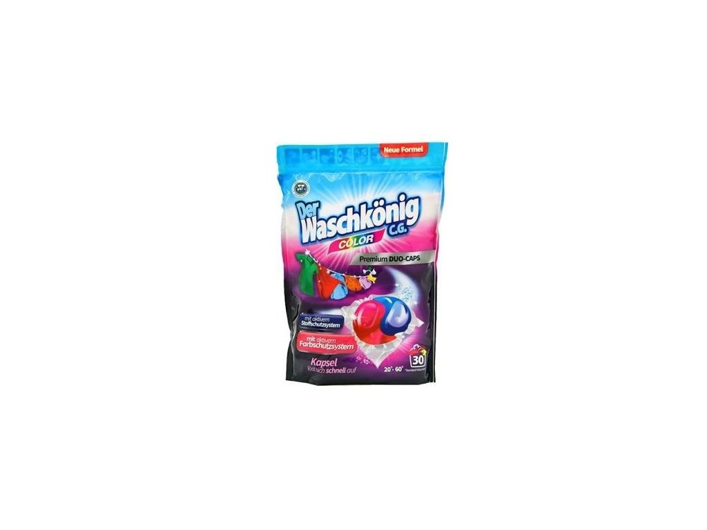 WaschKönig DUO-CAPS Color - kapsle na praní barevné prádla 30 Ks.