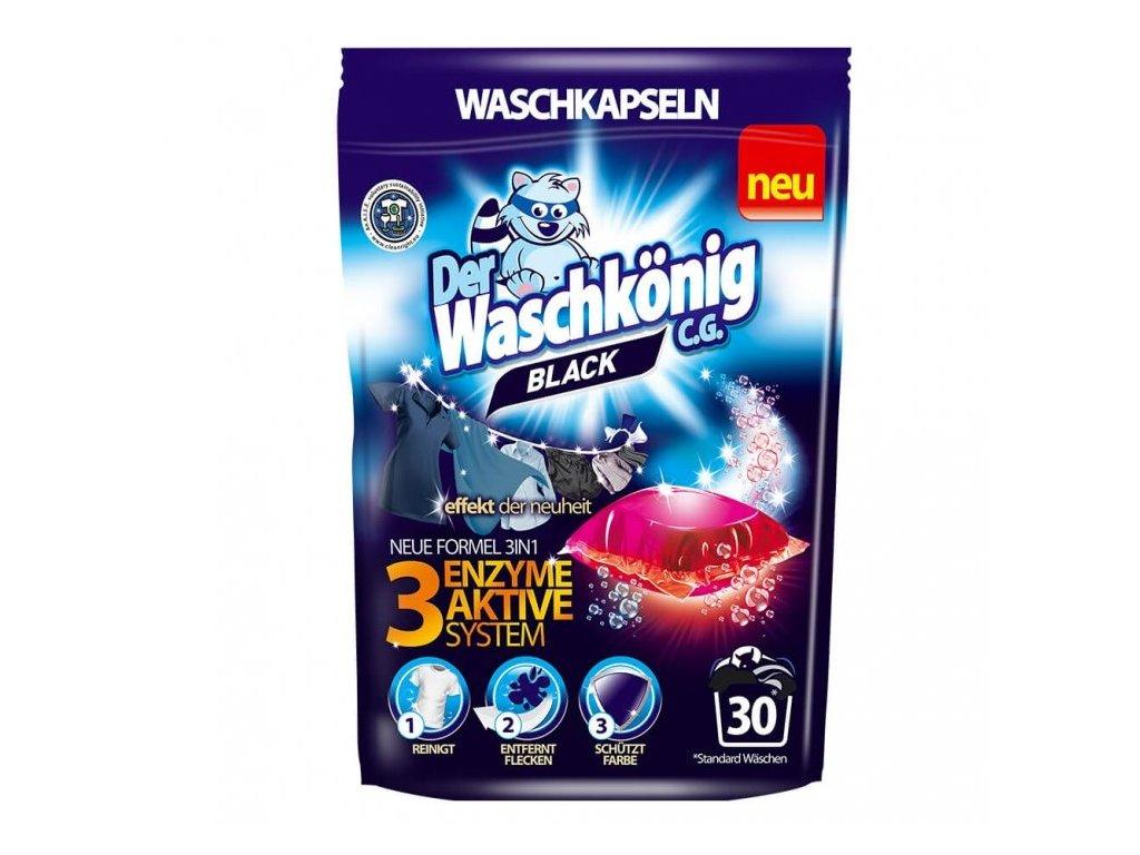 Waschkönig Black kapsle na praní černého prádla 30 ks