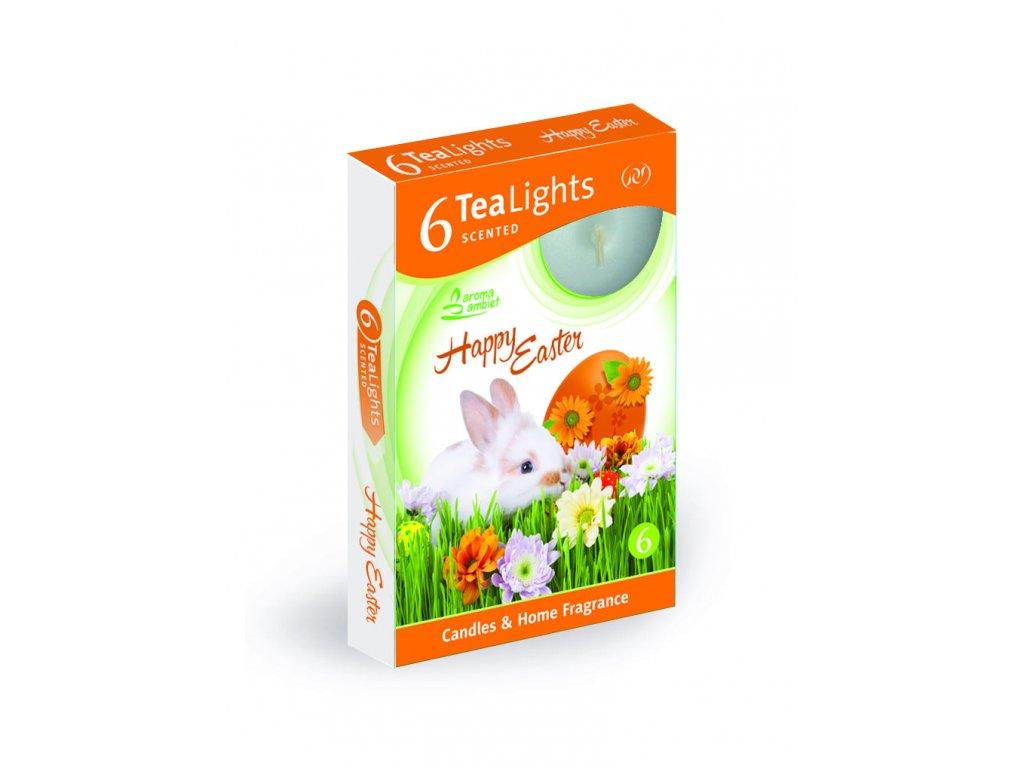 SANTO Čajový Svíčky 6ks Happy Easter