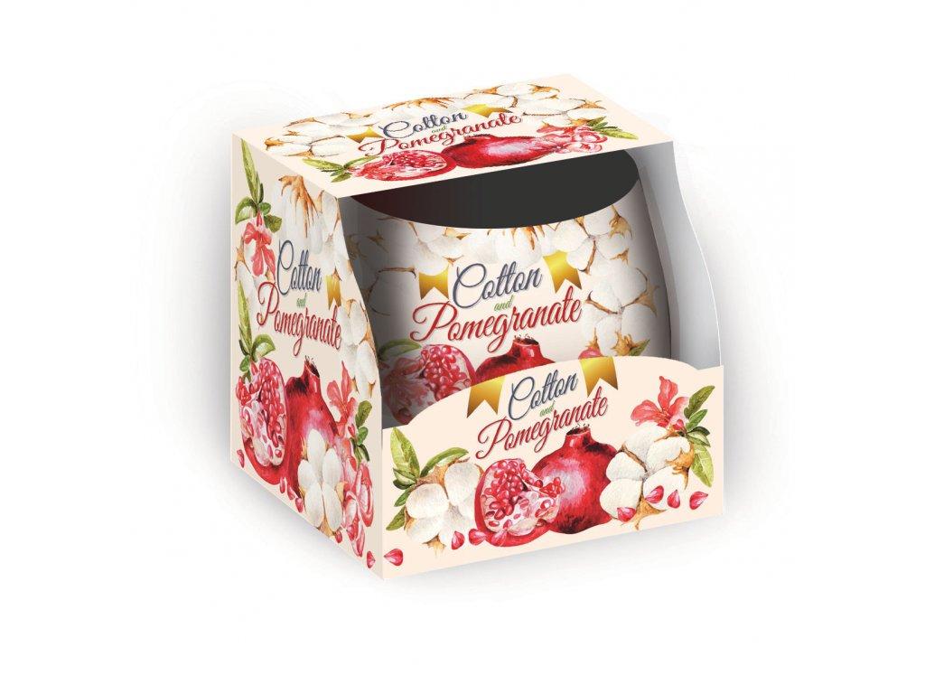 SANTO Vonné Svíčky 100g Cotton & Pomegranate