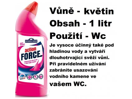 FORCE ČISTÍCÍ GEL NA WC - VŮNĚ KVĚTIN 1 L