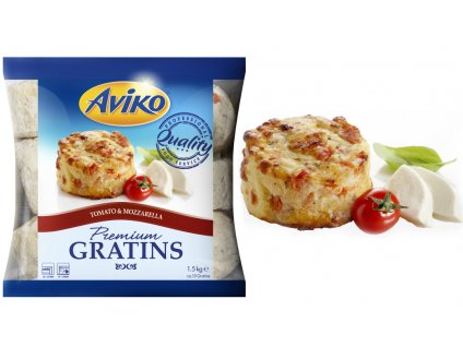 Aviko Gratins Tomato Mozzarella (gratinované brambory s rajč 1,5 kg
