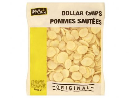 McCain Dollar Chips (bramborové plátky) 2,5 kg