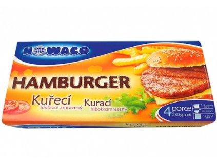 Kuřecí hamburger předsmažený Nowaco 280 g