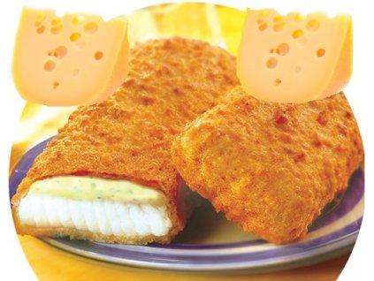 Obalované rybí porce se sýrem 110 g cena za kus.