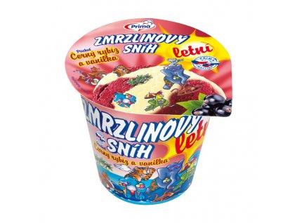 Zmrzlinový sníh černý rybíz a vanilka Prima  350 ml