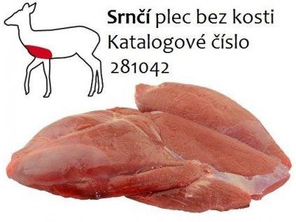 Srnčí plec bez kosti balení  cena za balení 1,6 Kg.