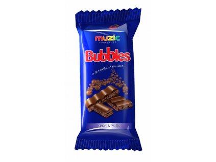 Bubbles Muzic čokoláda 50g modrá