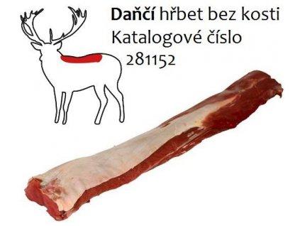 Daňčí hřbet bez kosti  cena za balení 0,8 Kg.