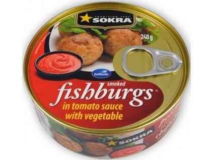 Pečenáče z uzených ryb v rajčatové omáčce se zeleninou 240g