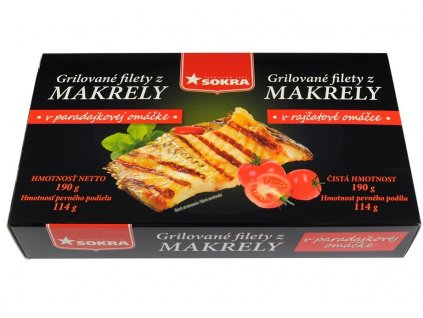 Grilované filety z makrely v rajčatové omáčce 190g