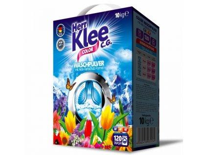 Klee Color prací prášek 10 kg na barevné prádlo 120 pracích dávek.