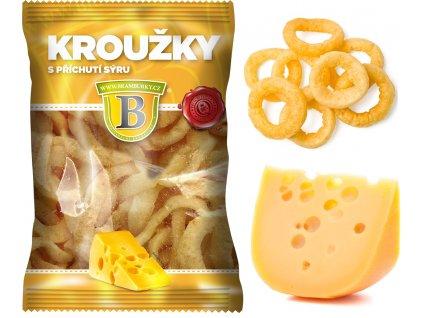Kroužky s příchutí sýru 50 g