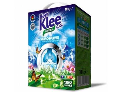 Klee Universal 10 kg prací prášek na 120 pracích dávek.