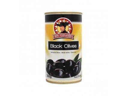 Černé olivy 350g