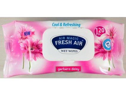 Dětské vlhčené ubrousky Fresh Air 120 ks klip Gerbera Daisy