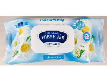 Dětské vlhčené ubrousky Fresh Air 120 ks klip Heřmánek modrý