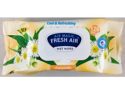 Dětské vlhčené ubrousky Fresh Air 120 ks klip Heřmánek žlutý