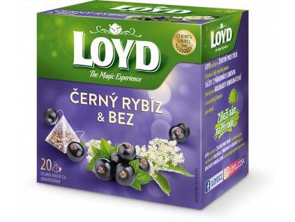 Loyd Pyramida Černý Rybíz&Bez 20x2g