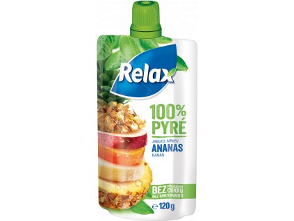 RELAX 100% Pyré Jablko Ananas 120g