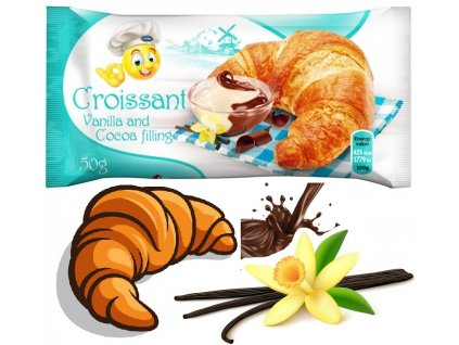Genc Croissant Vanilla & Cocoa 50g Croissant s vanilkovým a kakaovým krémem
