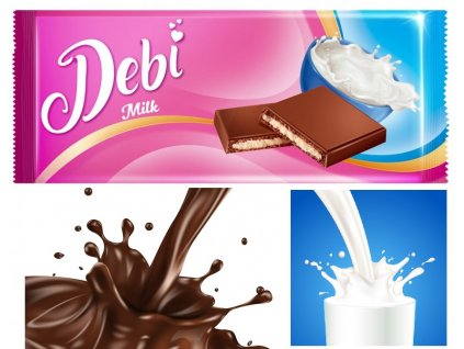 Debí Tablet Milk Kakaová pochoutka s mléčnou náplní 90g