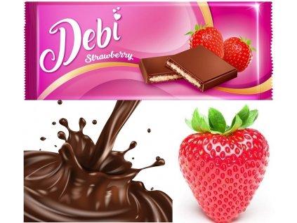 Debí Tablet Strawberry Kakaová pochoutka s jahodovou náplní 90g