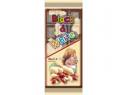 Black & White kakaové pochoutka s Arašídami 80g
